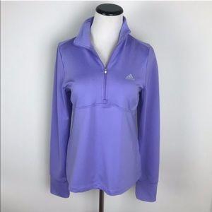 Adidas Lavender Half Zip Jacket Athleisure